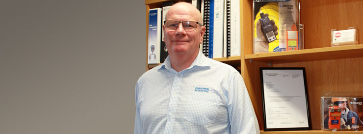 John Langslow, gas detection manager