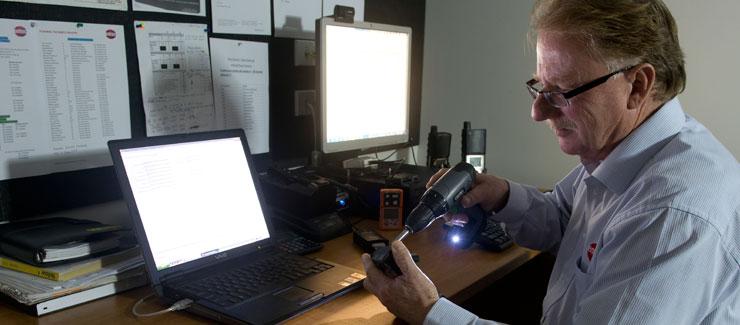 Russell Decke, gas detection service technician