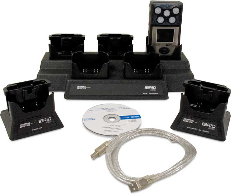 MX6 chargers, 5-unit charger, and charger/datalink unit