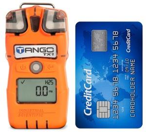 Tango TX1 card-sized gas detector