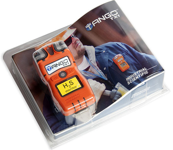 Tango TX1 portable gas detector packaging
