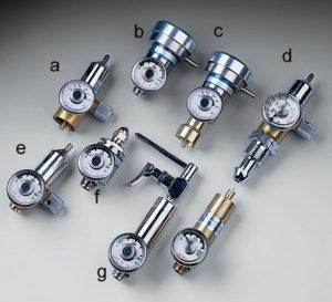 Calibration gas cylinder regulators