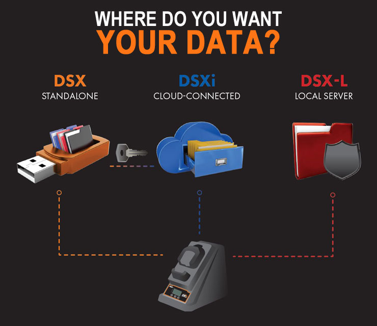 DSX docking station - Where do you want your data?
