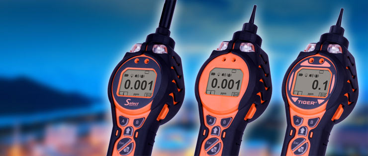 Ion Science Tiger gas detector range
