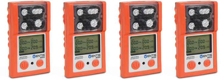 Ventis MX4 4-gas Gas Detector in Safety Orange