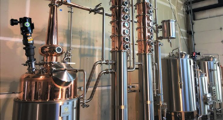 Fixed gas detection in boutique distillery