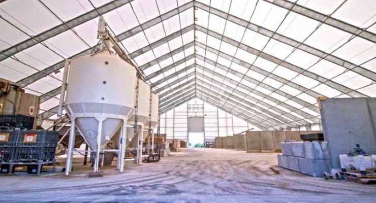Fixed gas detection in fertiliser bulk store