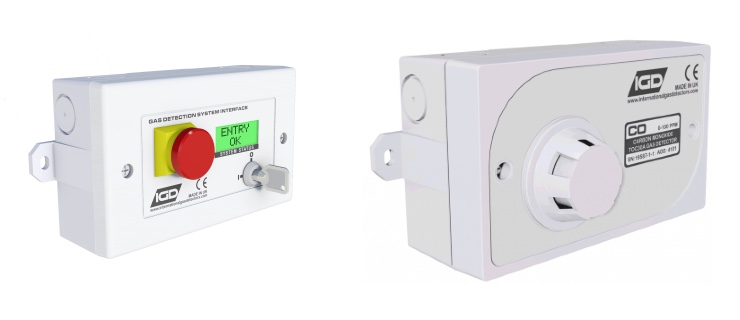 IGD room status indicator and TOC30A fixed gas detector